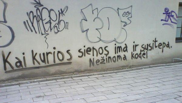 Graffiti sienos